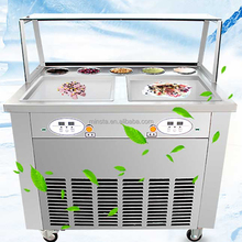 hard and softice pan machine ice cream cart ice pan with 3 pots fried ice cream machine