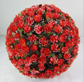 Artificial Plastic Red rose flower ball Wedding flower ball