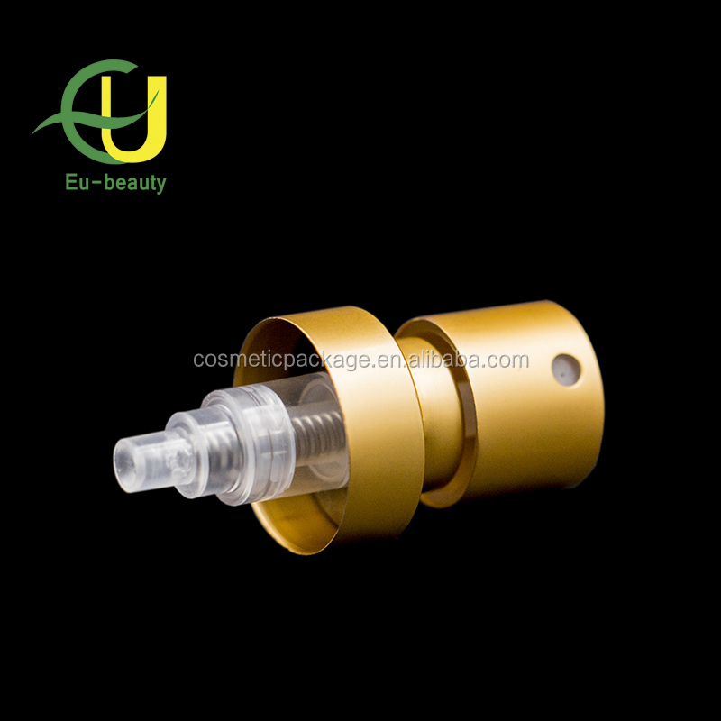 bottle usage aluminum 20/410 fine mist sprayer,cosmetic crimp pump