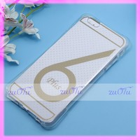 2016 transparent tpu mobile phone cover case for iphone