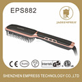 Digital 130C-220C black and golden ion hair brush iron hair straightening brush EPS882