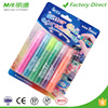 Promotional high quality dry fast washable kids art glitter glue pack 6 colors