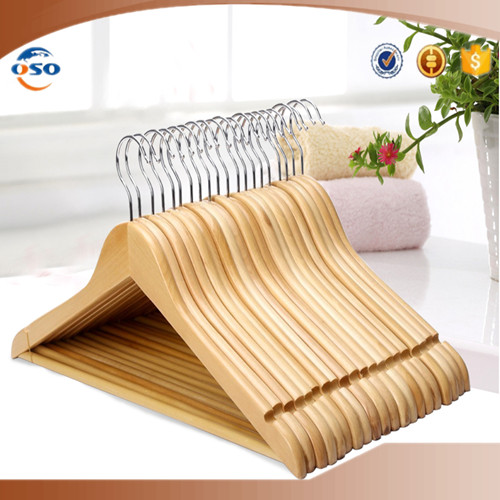 Factory wholesale garment usage flat wooden hanger for clothes