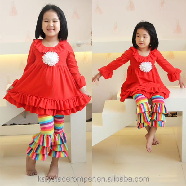 christening gowns for girls ruffle rainbow pants kids 2 pcs clothing sets full sleeve outfits for 7 years girls