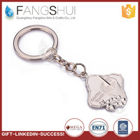 High quality zinc alloy solid metal keychains