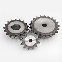 SC45 steel harden teeth 45-55 HRC chain sprocket
