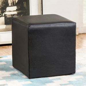 cube storage for shoes ,leather shoes changing stool,shoes changing stool