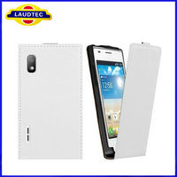 White Cheap Ultra Slim Leather Mobile Phone Case for LG E610 Optimus L5,for LG E610 E612 Optimus L5 Flip Cover Holster