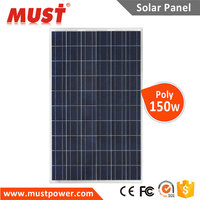 Ce Tuv Standard Anti Dumping Free Poly 150w MUST Pv Solar Panel On Sale