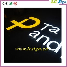 LED Channel Letter Sign-Surface illuminated Paint Sheet Metal Side Outdoor Letter