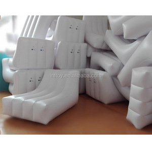 S shape white inflatable sofa bed PVC sofa chair for adult