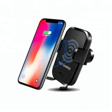 2018 Newest Qi Fast Wireless Charger Touch Sensor Car Mount Air Vent Phone Holder