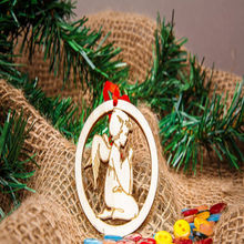 Wooden Christmas Little Angel Prayer Ornament