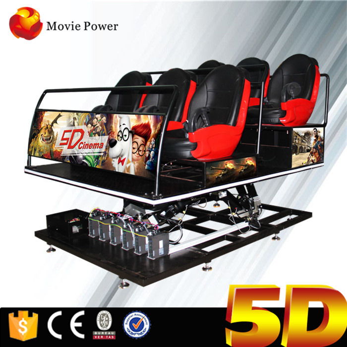 Children Amusement Park Equipment 6 Seats 5d Cinema For Sale