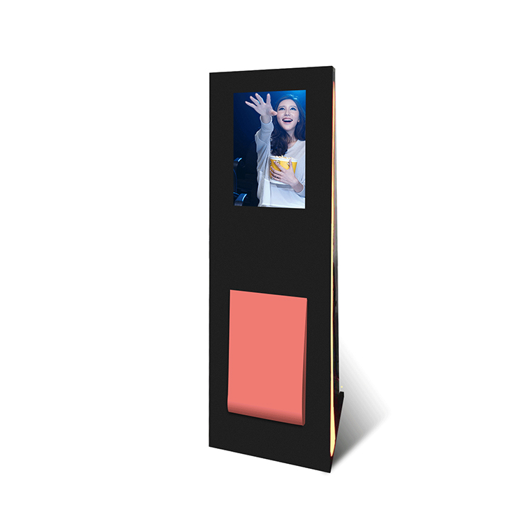 New Bionics design lcd touch screen kiosk with streamlining