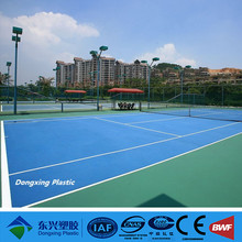 Simple color outdoor tennis court surface covering