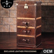 Hot sell living room furniture cabinet decorative with leather chest of drawers L813