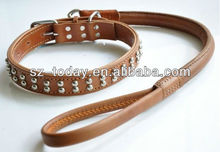 genuine leather body belt for dogs