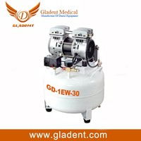 Super Silent Dental Oil-free Air Compressor 30L with Stainless steel tank