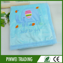 printed polyester/fleece mink blanket