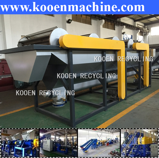 LLDPE plastic film recycling pelletizing and granulating machine