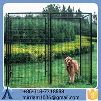 high quality galvanised welded dog kennels / dog cages/ dog runs
