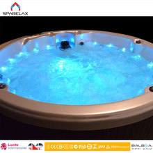 USA Lucite Acrylic Indoor Outdoor Round Spa 4 to 5 Person Hot Tub
