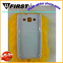 Newest Winter plush phone case For Samsung,Winter mobile case,leather mobile case we also sell