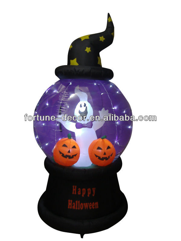 210cmH/7ft inflatable Halloween snow globe giant inflatable globe