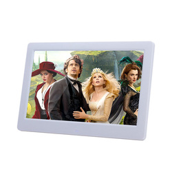 OEM video photo playback 7 inch 1024*600 white black color photo frame digital