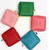 Leather multi-function cosmetic bag PU zipper pouch zero wallet
