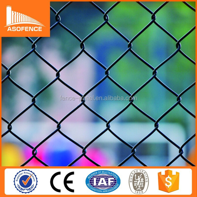 High quality popular electric galvanized wire then powder painted chain link fence suppliers in chennai