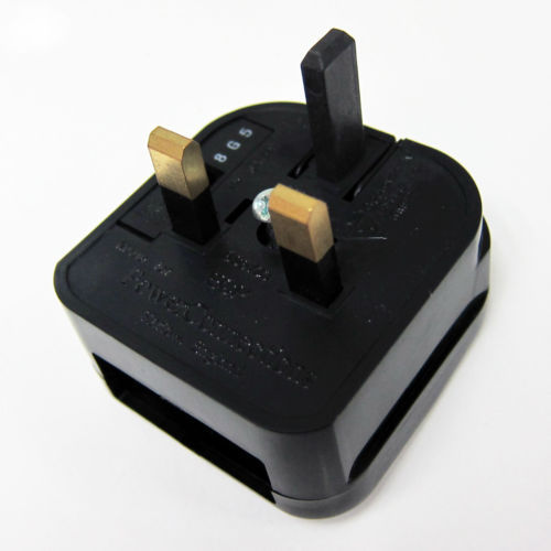 High quality europe 2 pin to uk 3 pin adaptor plug with fuse