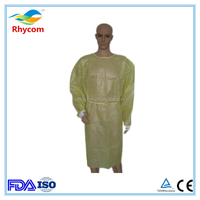 Xiantao wholesale pe coated water resistant disposable surgeon gown