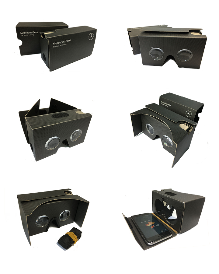 Colorful Printing Cardboard VR Goggles Virtual Reality Google Cardboard 3D VR Glasses for Smartphone