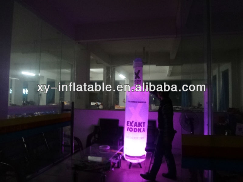 inflatable bottle with light