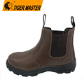 No lace slip resistant elastic construction work safety shoes
