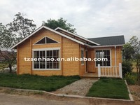 Prefabricated wooden house/villa/log cabin manufacturer in China