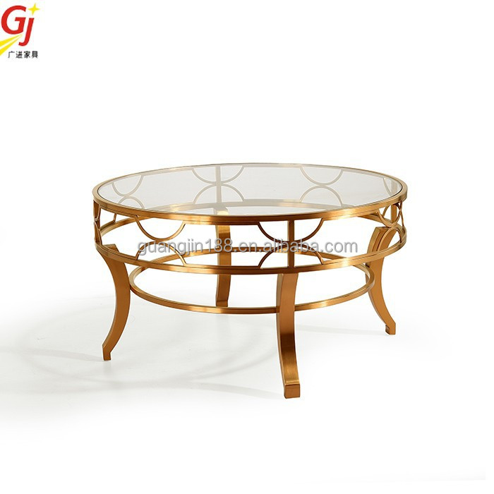 rose gold antique coffee table RT-2056