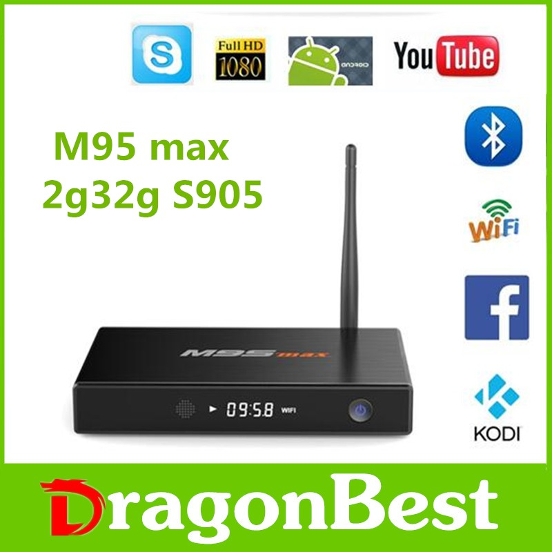 2GB RAM 32GB ROM Android TV Box S905 M9S Max 4K stream tv box Android 5.1 2.4G + 5G dual band wifi