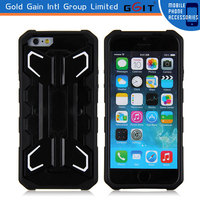 Cool Style TPU+PC Robot Case for iPhone 6 Back Cover Case With Holder
