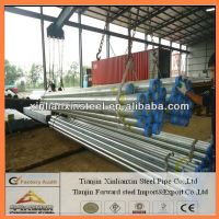Own factory pipe galvanized steel water pipe sizes