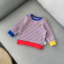 Cartoon Embroidered Striped Baby Clothes for Spring
