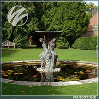 Large size garden decoration bronze fountain