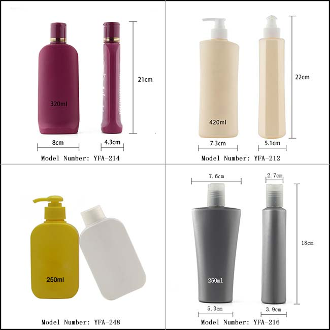 plastic bottle for shower gel personal care shampoo bottle