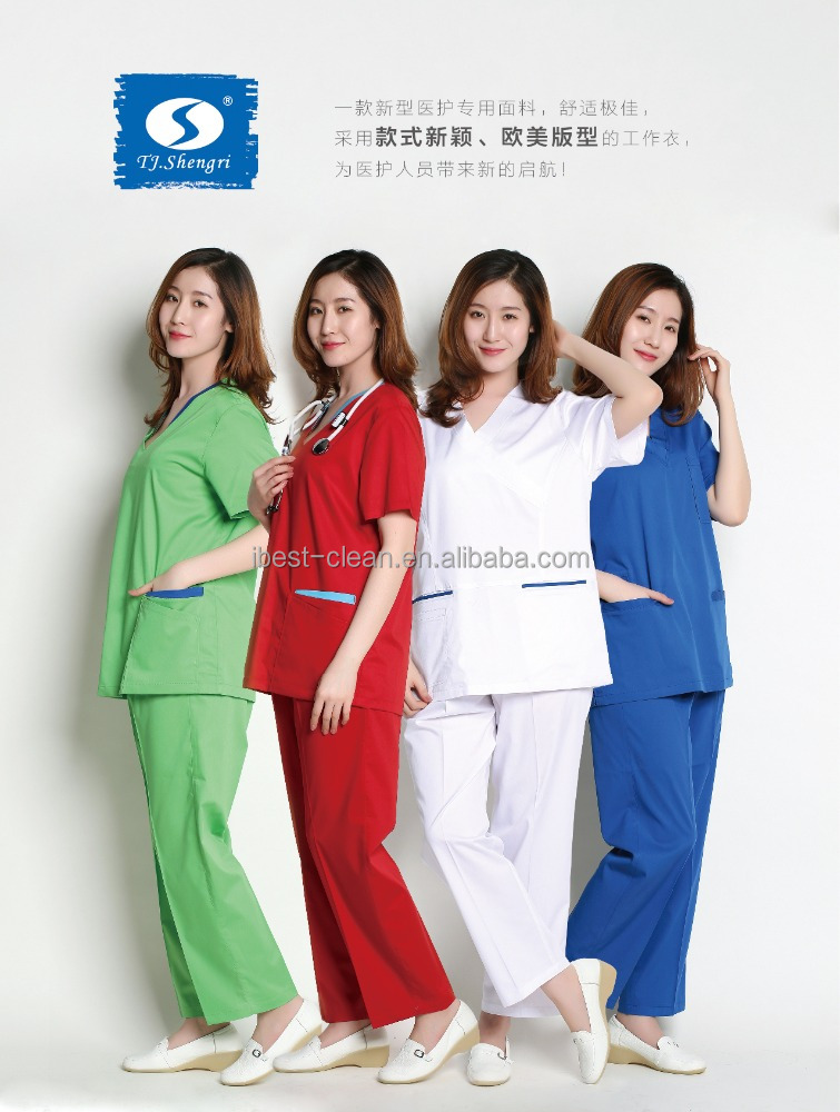 Custom clinical hospital medical scrubs uniforms