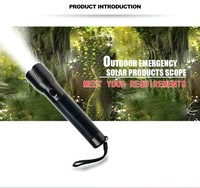 2017 hot Sales tactical flashlight led gift torch light solar light torch