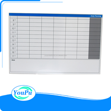 600*900mm standard steel backing magnetic Day Planning Board