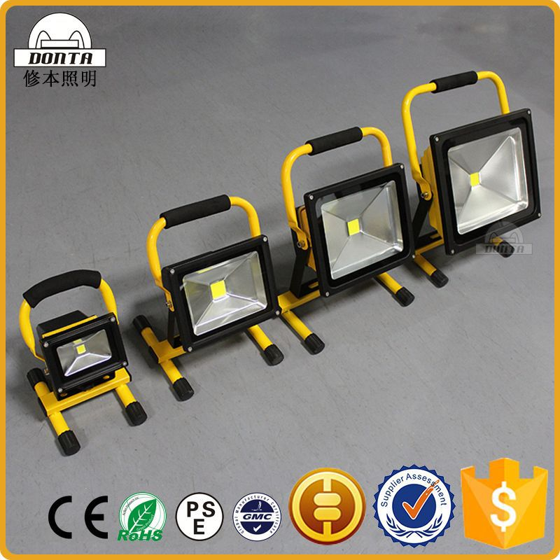 20 watt Newest portable metal halide rechargeable led flood light