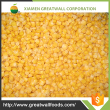 Iqf bulk frozen whole kernel sweet corn